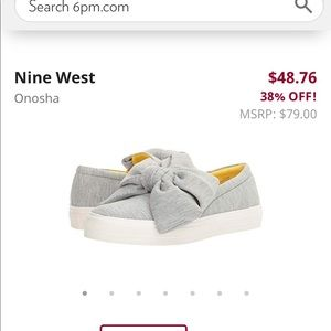 Nine West bow sneakers